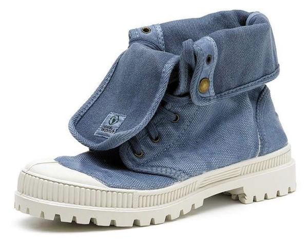 Bota Alta - Schuhe aus Bio-Baumwolle - celeste enzimatico - Bild 1