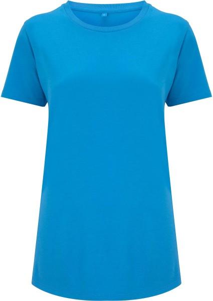 Ecovero T-Shirt aus Viskose und Bio-Baumwolle - summer blue