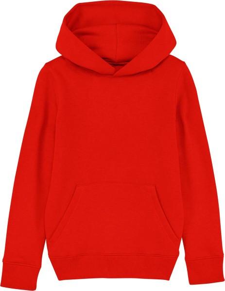 Kinder Hoodie aus Bio-Baumwolle - bright red