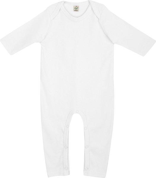 Baby Strampler aus Bio-Baumwolle - white