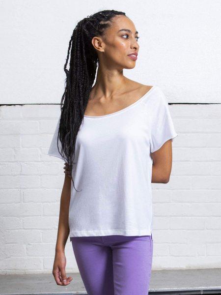 Organic Flash Dance T-Shirt - white