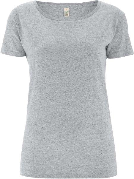 Special Yarn Effect T-Shirt - Biobaumwolle - grey marl - Bild 1
