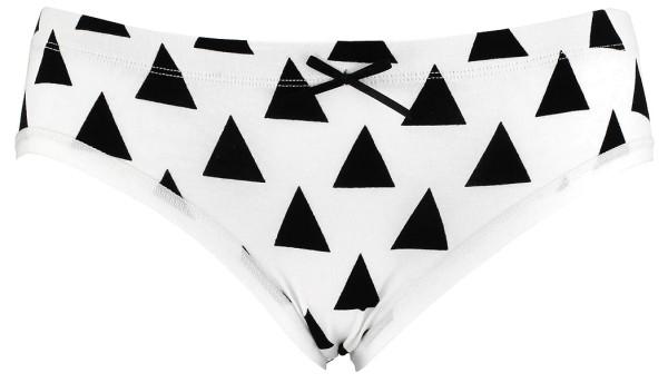 Hipster Panty aus Bio-Baumwolle - weiss-schwarz - Bild 1