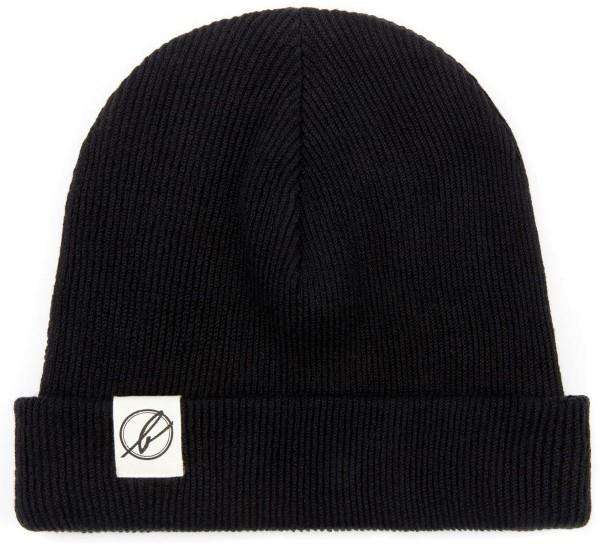 Wintermütze aus Bio-Baumwolle - schwarz