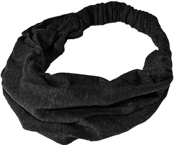 Haarband aus Hanf und Biobaumwolle - black - Bild 1