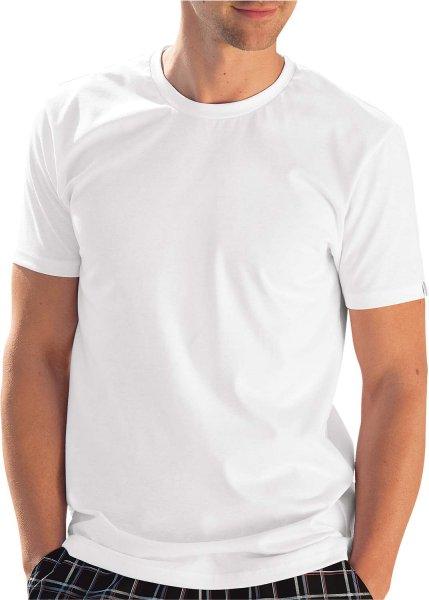 Slim-Fit T-Shirt aus Baumwolle - weiss - Bild 1