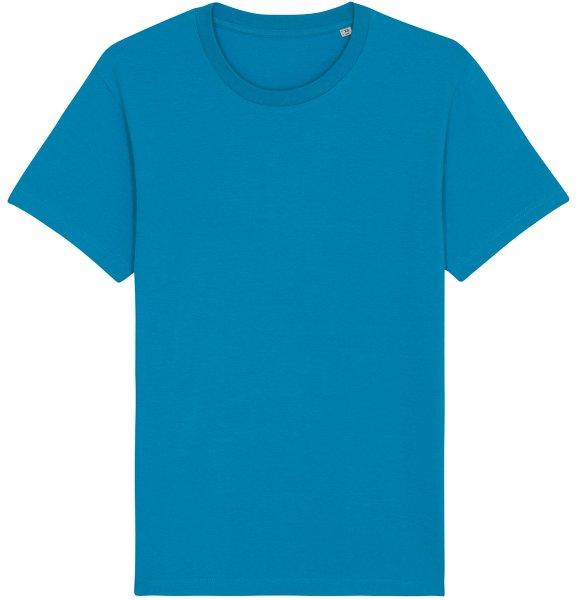 Basic T-Shirt aus Bio-Baumwolle - azur