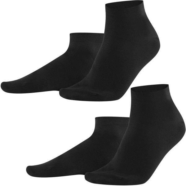 Sneaker-Socken aus Bio-Baumwolle - Doppelpack - black