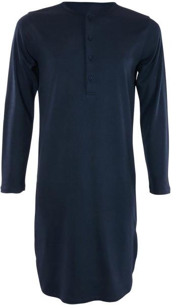 Retro-Nachthemd aus Bio-Baumwolle - navy - Bild 1
