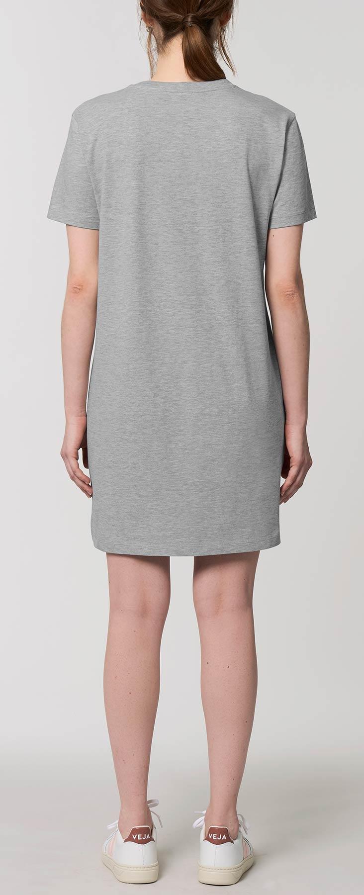 Grau meliertes Jersey-Kleid aus 100% Bio-Baumwolle ...