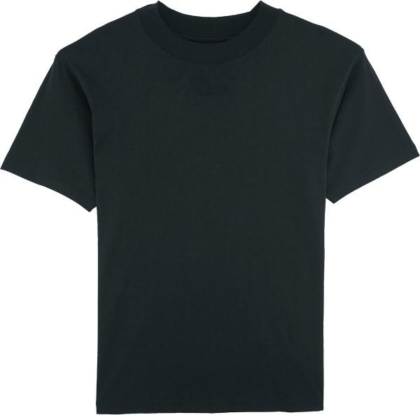 T-Shirt mit hohem Halsabschluss - black