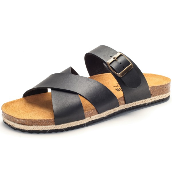 Herren Sandale schwarz Juteband 190021