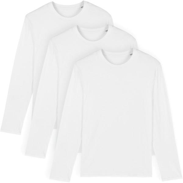 Longsleeve aus Bio-Baumwolle - white - 3er-Pack