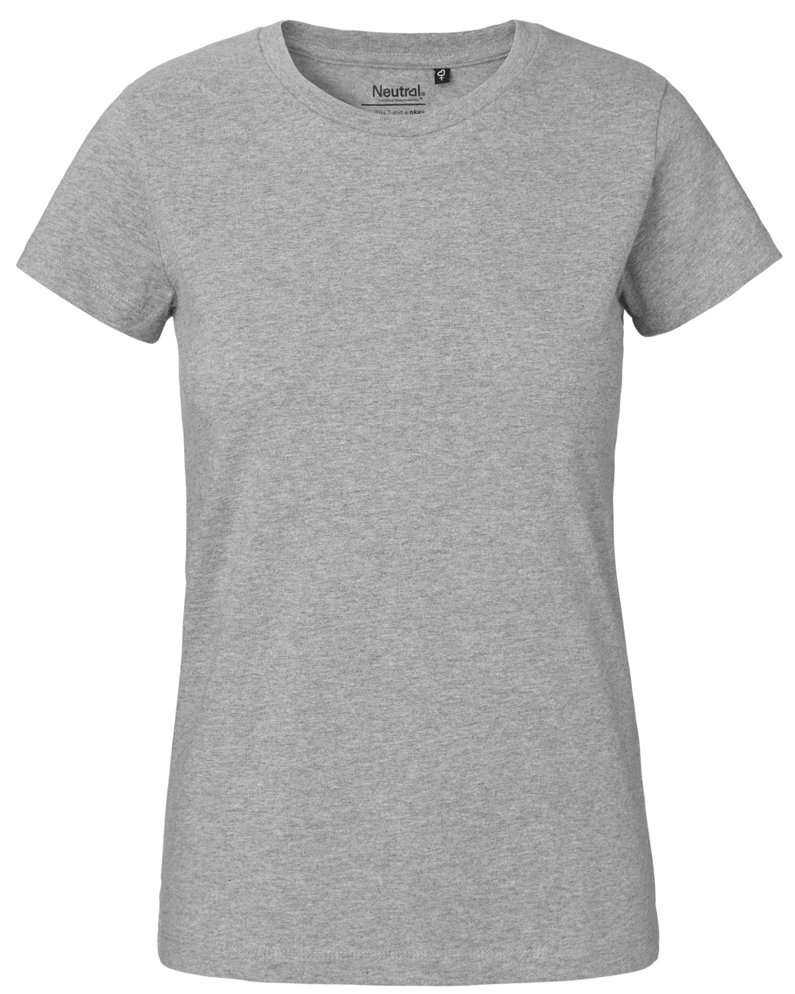 e4fee30837b5e0 Frauen T-Shirt in grau-meliert - fair produziert