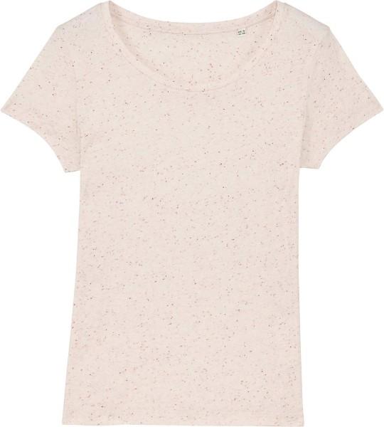 Jersey-Shirt aus Bio-Baumwolle - ecru neppy mandarine