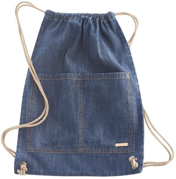 Gym Bag aus Bio-Baumwolle – indigo blue