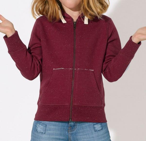 Kinder Mini Voyages - Unisex Jacke Bio-Baumwolle d.-heather burg - Bild 1