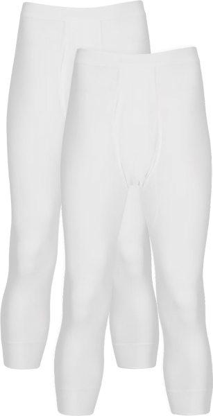 3/4-lange Unterhose aus Baumwolle - Doppelpack - weiss