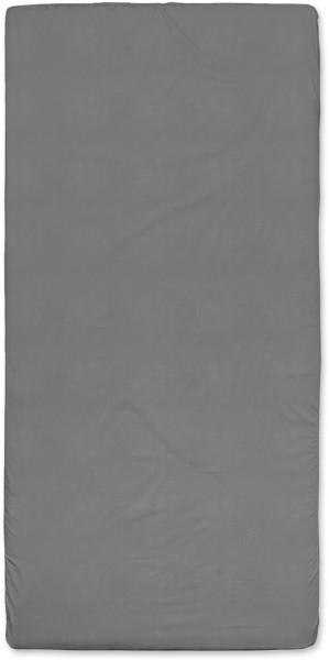 Spannbetttuch aus Bio-Baumwolle 100x200 cm - dunkelgrau