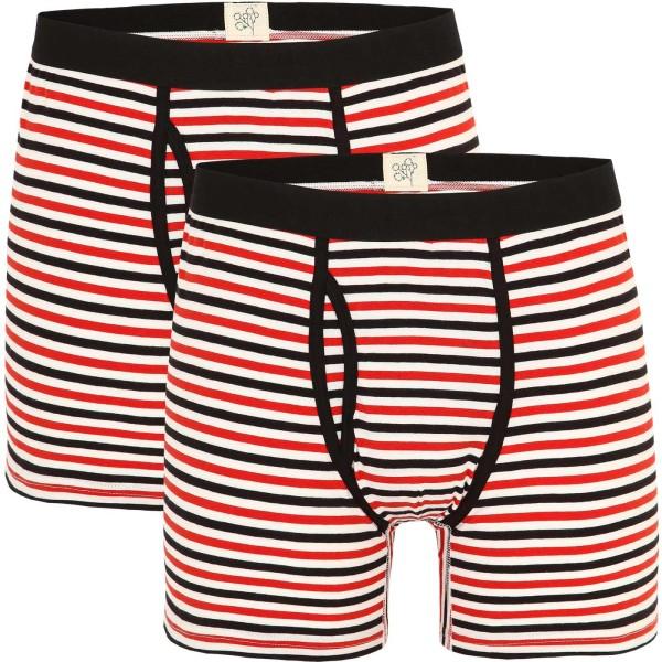 Boxer-Shorts aus Bio-Baumwolle - gestreift - Doppelpack