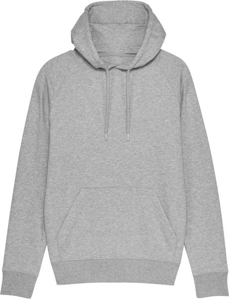 Raglan-Hoodie aus Bio-Baumwolle - heather grey