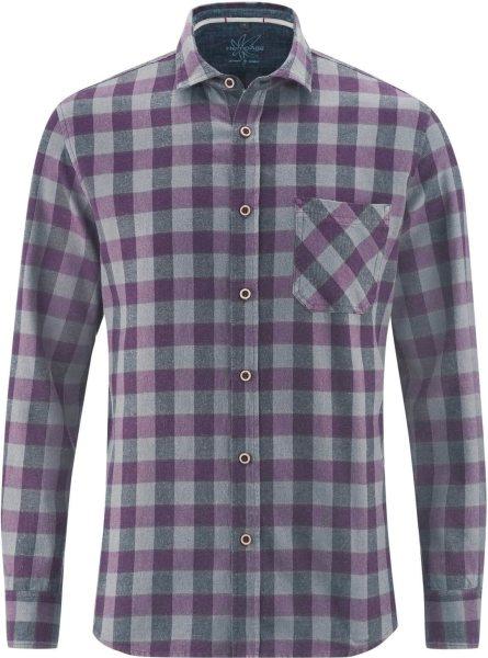 Holzfällerhemd aus Hanf und Bio-Baumwolle - purple