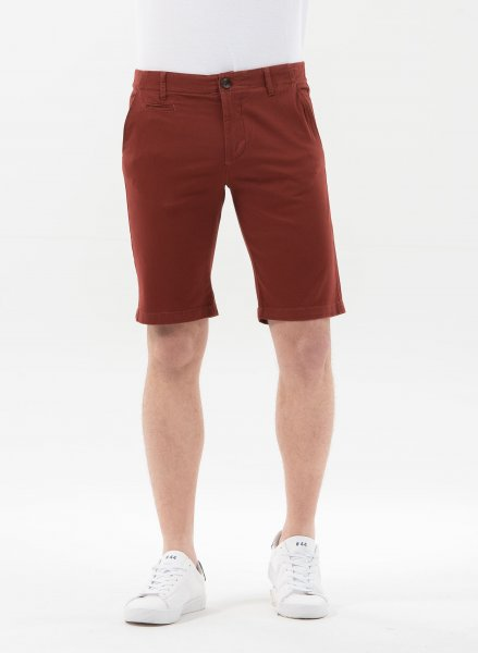 Slim Fit Shorts aus Bio-Baumwolle - hot chocolate