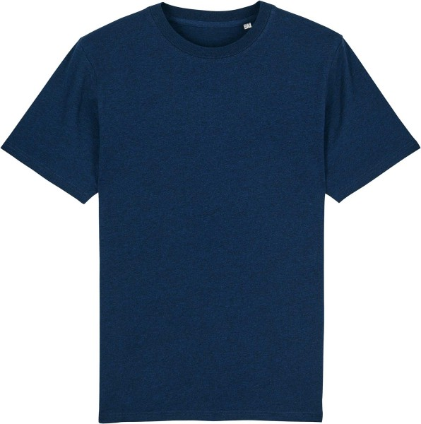 T-Shirt aus schwerem Stoff aus Bio-Baumwolle - black heather blue