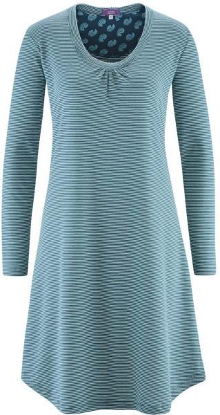 Nachthemd aus Bio-Baumwolle - petrol stripe