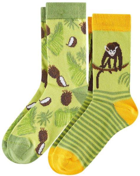 Kinder Socken aus Bio-Baumwolle - 2er-Pack - monkey