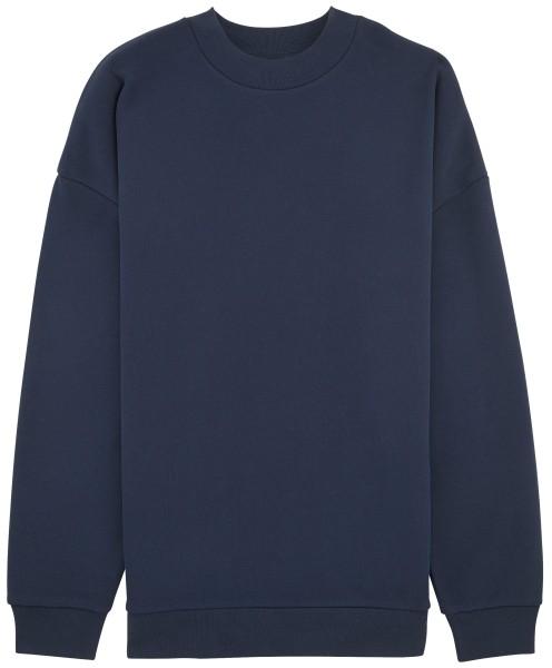 Lockeres Sweatshirt lang geschnitten Biobaumwolle navy