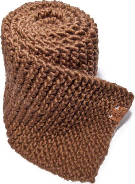 Strickschal aus Schurwolle - braun