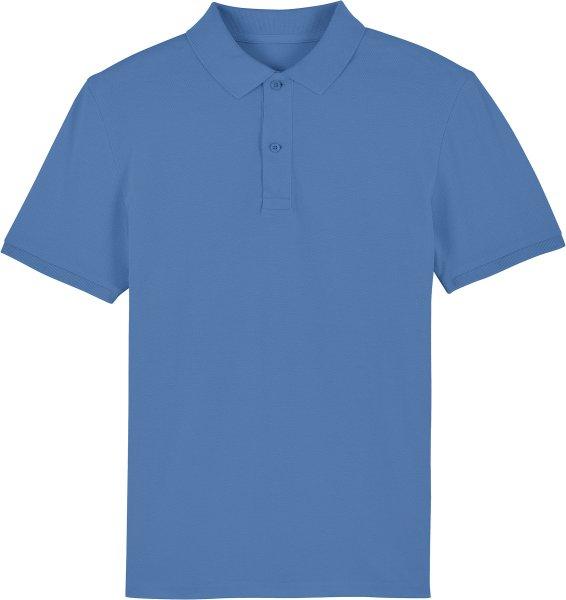 Piqué-Poloshirt aus Bio-Baumwolle - bright blue