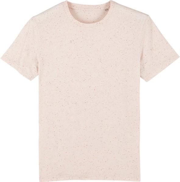 T-Shirt aus Bio-Baumwolle - ecru neppy mandarine