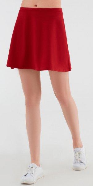 Minirock aus Bio-Baumwolle -  rot