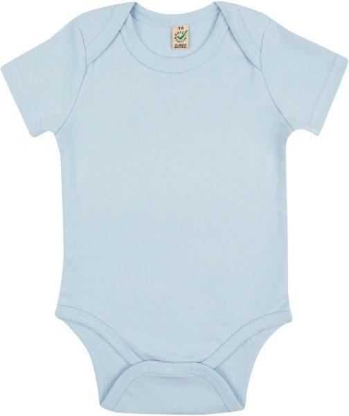 Baby kurzarm Body aus Bio-Baumwolle - soft blue - Bild 1