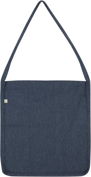Recycled Sling Bag aus Baumwolle & Polyester - melange navy - Bild 1