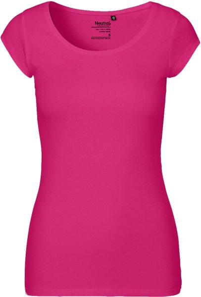 Roundneck T-Shirt aus Fairtrade Bio-Baumwolle - pink
