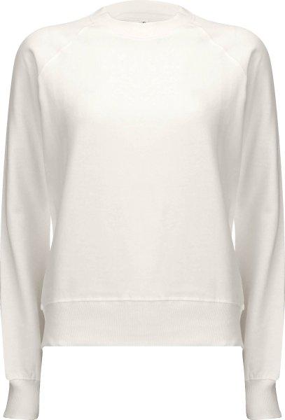 Raglan Sweatshirt aus Biobaumwolle - white mist