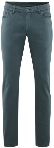5-Pocket-Hose aus Bio-Baumwolle - petrol