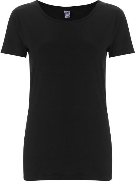 Frauen T-Shirt schwarz Fairtrade Biobaumwolle FS09