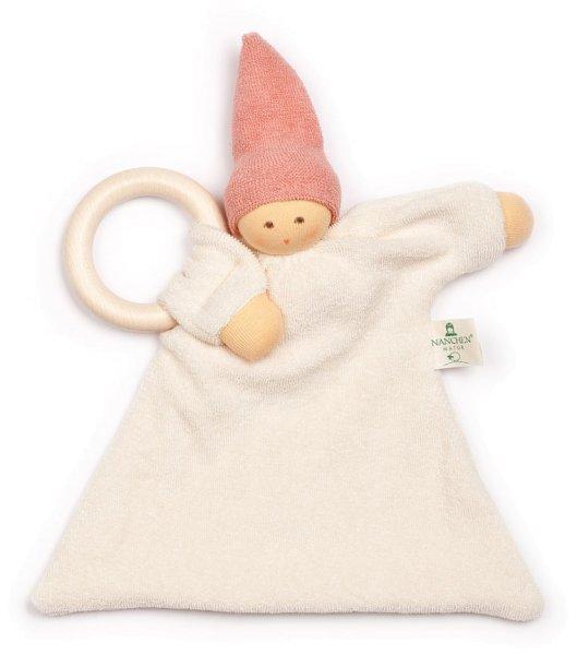 Ringnuckel Schmusepuppe/Tuch aus Bio-Baumwolle - rosa - Bild 1