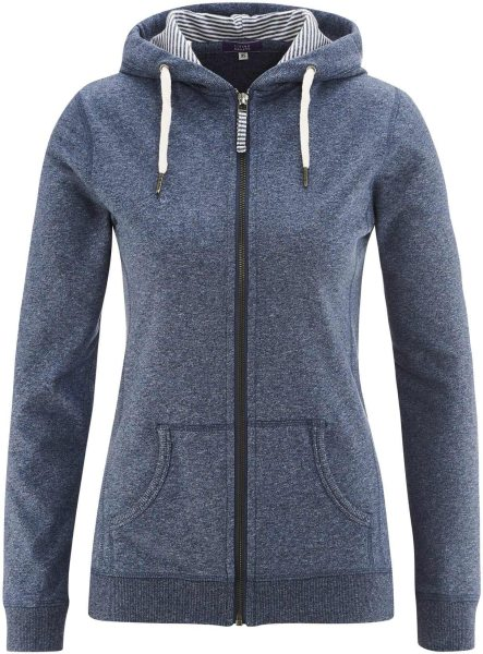 Wellness-Jacke Bio-Baumwolle - cloud blue melange