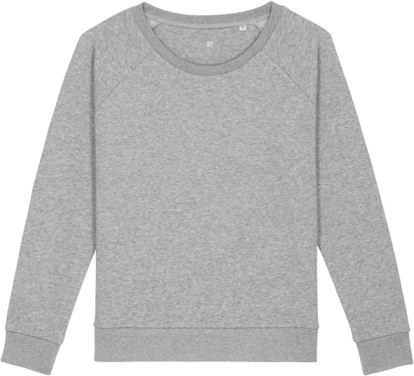 Sweatshirt aus Bio-Baumwolle - heather grey