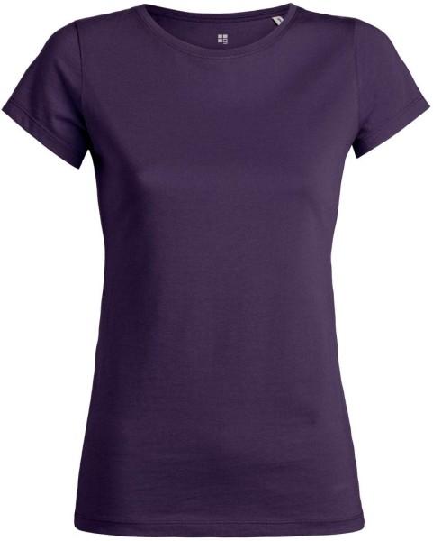 T-Shirt aus Bio-Baumwolle - plum