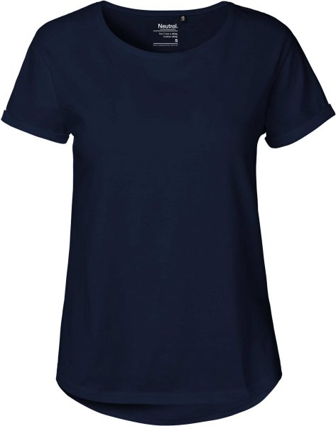 Rolled Up Sleeve T-Shirt navy - Neutral 80012