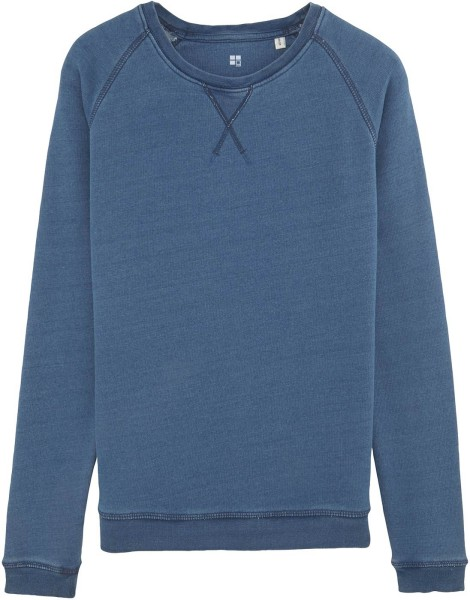 Sweatshirt Bio-Baumwolle - light washed indigo