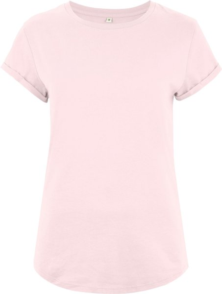 Organic Rolled Sleeve T-Shirt - light pink