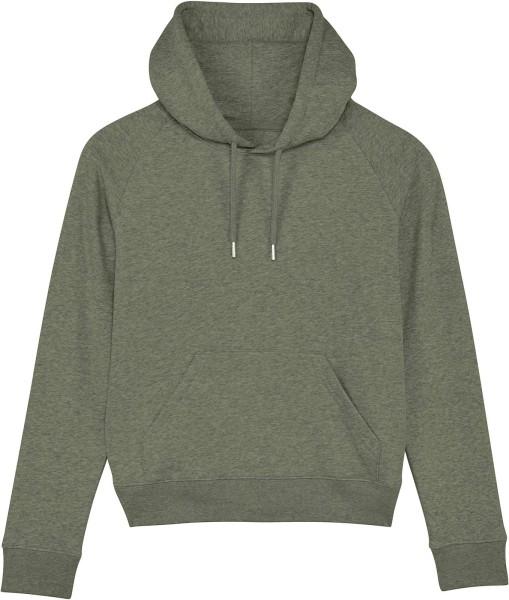 Raglan-Hoodie aus Bio-Baumwolle - mid heather khaki