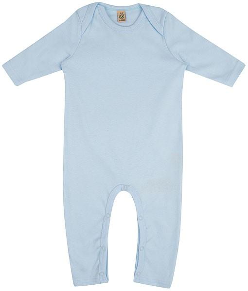 Baby Strampler aus Bio-Baumwolle - soft blue - Bild 1